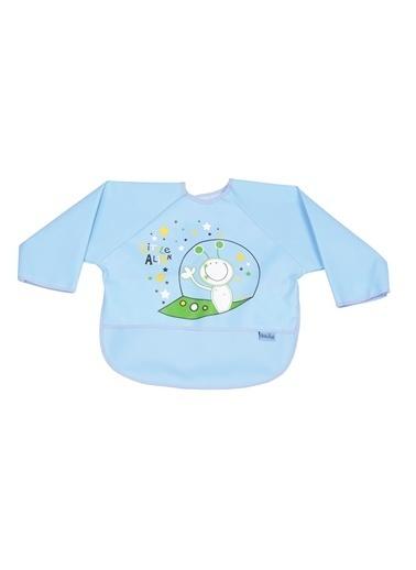 Baby Jem Poli Muşamba Kollu Önlük  Mavi